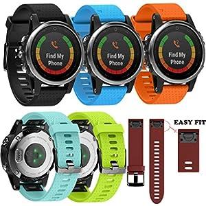 Malloom Reemplazo Silicagel suave banda de liberación rápida Easy Fit correa para Garmin Fenix 5S reloj GPS marca Malloom