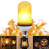 LED Flammen Lampe - VIDEN Led Glühbirne Flamme Birne, 1200K Wahre Feuer Farbe, LED Lampe E26 E27 mit Beweglicher Flamme, Dekorative Leuchten für Weihnachten, Festival, Party Kreative Lichter