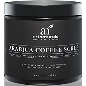 art naturals organisches totes meer salz kaffee peeling 250ml hilft gegen hautprobleme. Black Bedroom Furniture Sets. Home Design Ideas