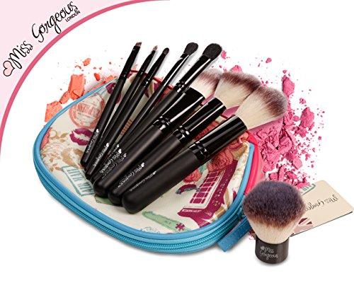 Miss Gorgeous Lot de pinceaux de maquillage professionnel avec sac Cosmétique