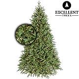 Excellent Trees Künstlicher Weihnachtsbaum Tannenbaum Christbaum grün LED Ulvik 180 cm mit Beleuchtung, 350 Lämpchen beleuchtet