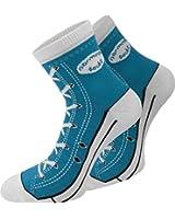 4 Paar Baumwoll Socken im Chucks - Design