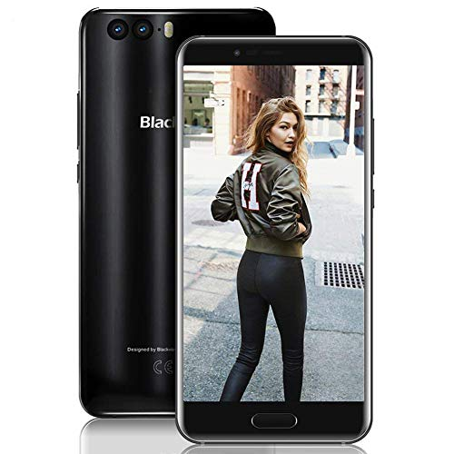 【2018 Blackview P6000 64GB ROM Dual SIM Smartphone, 6180mAh Batería 12V2A Teléfono Móvil, 21MP+8MP+0.3MP 6GB RAM FHD 5.5' Libres 4G Teléfono, Reconocimiento Facial/GPS/OTG/Bluetooth 4.0-Negro