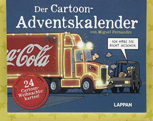 Der Cartoon-Adventskalender: Mit 24 Cartoon-Weihnachtskarten!