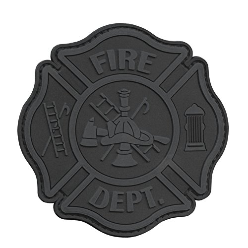 2AFTER1 ACU Subdued Fire Fighter Department EMS EMT Rescue Firemen Engine Morale Gear PVC Hook-and-Loop Patch -