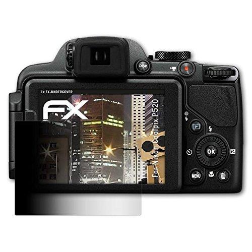 atFoliX Blickschutzfilter kompatibel mit Nikon Coolpix P520 Blickschutzfolie, 4-Wege Sichtschutz FX Schutzfolie