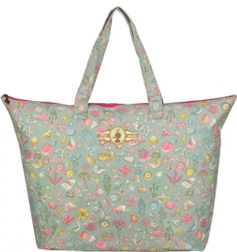 Pip Studio Little Sea Damen Strandtasche Shopper Einkaufstasche Tasche Schultertasche