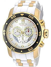 Invicta Men's 48mm Chronograph White Polyurethane flame fusion Date Watch 20292