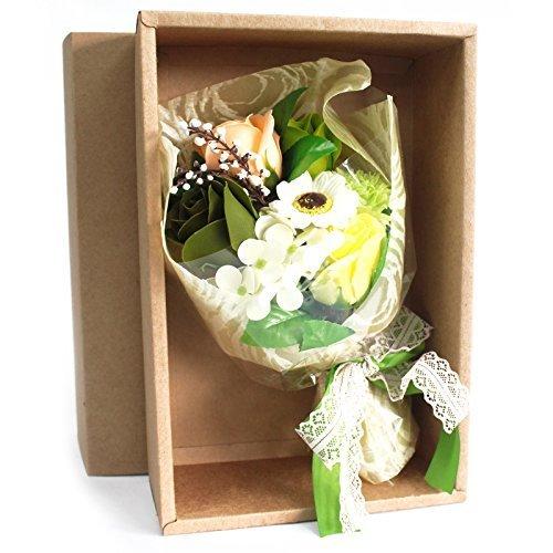 grün - verpackt Seife Blumengesteck Badebombe Blumen Mixed Anordnung AW