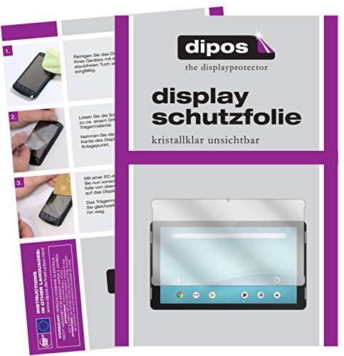 dipos I 2X Schutzfolie klar passend für TrekStor SurfTab Theatre 13.3 Folie Displayschutzfolie