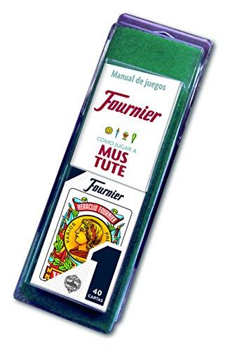 Fournier Nº 1-40 Cartas Set de baraja Española y tapete con Reglamento de Mus y Tute F36790