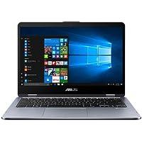 """Asus Vivobook Flip TP410UA-EC380T PC Portable Hybride Tactile 14"""" Full HD Gris métal (Intel Core i5, 6 Go de RAM, Disque Dur 1 To + SSD 128 Go, Intel Graphics UHD 620, Windows 10) Clavier Français AZERTY [Ancien Modèle]"""