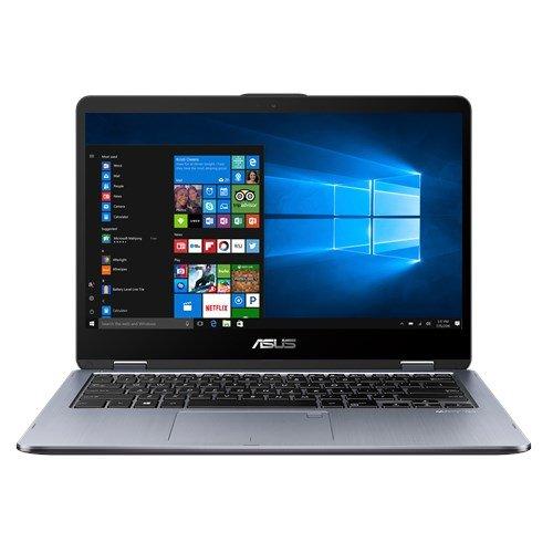 "ASUS VivoBook Flip TP410UA-EC287T 2.4GHz i3-7100U 14"" 1920 x 1080Pixel Touch screen, Grigio Ibrido [importato da Spagna]"