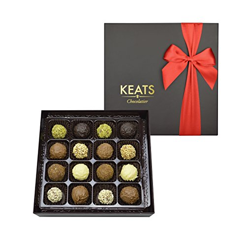 KEATS CHOCOLATIER FINE TRUFFLES ASSORTMENT IN HAND MADE GIFT BOX CHOCOLATE 200g MOTHERS DAY GIFT