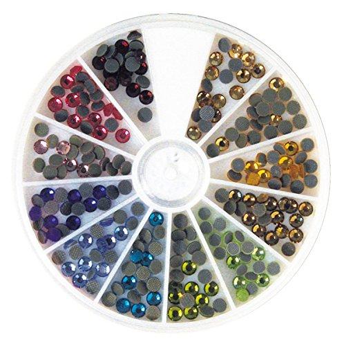 Auf Nur Dem Rosen Papier (Rayher 15129999 Hotfix Strasssteine aus Glas, 4 mm ø, 12 Farben, Sortierbox 240 Stück, Glas-Strasssteine, Schmucksteine zum Aufbügeln)