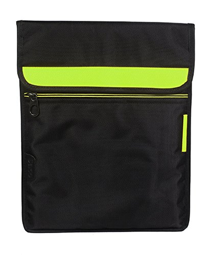 Saco Laptop Vertical Envelope Sleeve Bag Case Cover with Shoulder Strap for Samsung Galaxy Tab 2 10.1 P5100 Tablet - Green