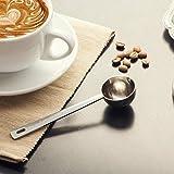 JJOnlinestore–Suelo 1taza cuchara de acero inoxidable cuchara medidora de café para especias de polvo de frutas helado (1pc)