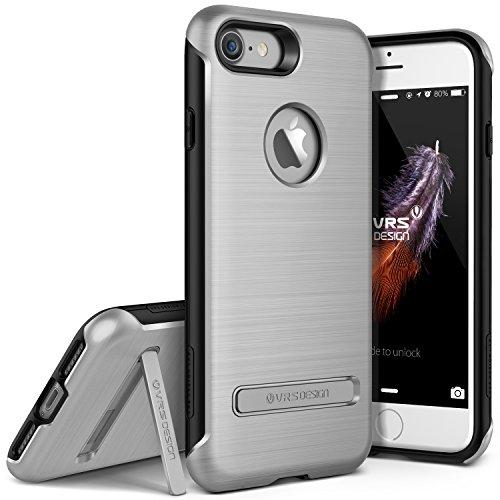 Polycarbonat-guard (VRS Design Duo Guard Edition kompatibel mit Apple iPhone 7 | Polycarbonat Handy-hülle in Light Silver | Schutz-Cover Smartphone-Case)