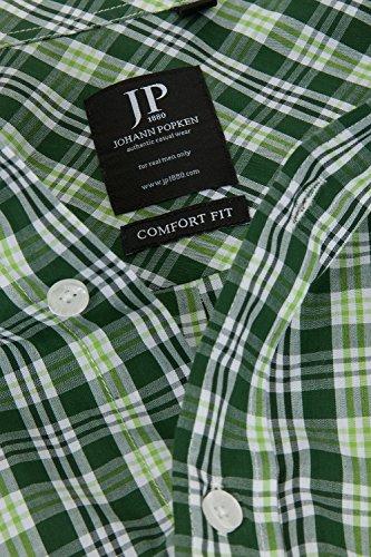 JP 1880 Homme Grandes tailles Chemise à carreaux 700091 Vert