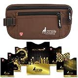 Alpha Keeper Gürteltasche für Reisen mit RFID blockierendem Hüllen Set