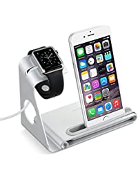 VTIN Station de Charge pour Apple Watch & Support pour iPhone 6S 6Plus 6 5S 5C 5 4S iPad mini Charge Station en Alliage d'Aluminium[Câble de Charge & iPhone & Montre & iPad mini NE SONT PAS INCLUS]