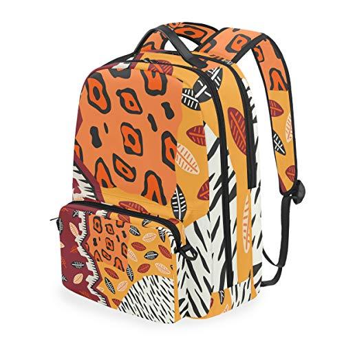 Abnehmbarer Rucksack mit Tierhaut, für Herren und Damen, für Reisen, Schule, Schule, Freizeit