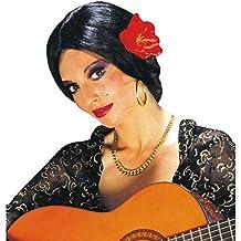 Negro española Carmen de la peluca Flamenco para mujer peluca de la peluca de la peluca
