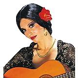 Perruque d'Espagnole noir Carmen Flamenco noir perruque pour femme perruque de Carnaval perruque pour déguisement perruque de flamenco