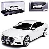 alles-meine GmbH Audi A7 Sportback C8 Limousine Weiss 2. Generation Ab 2018 1/43 Kyosho i-Scale Modell Auto mit individiuellem Wunschkennzeichen