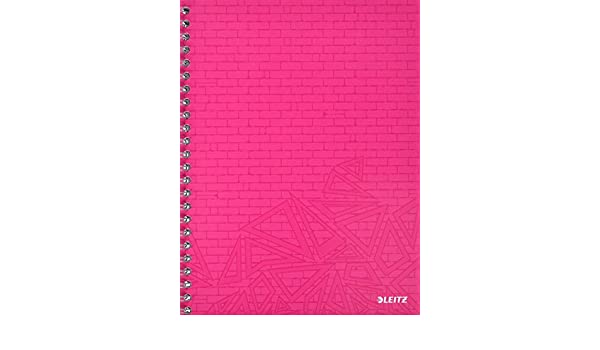 70 fogli colori assortiti Esselte Leitz Quaderno a spirale Urban Chic a quadri PP formato A4