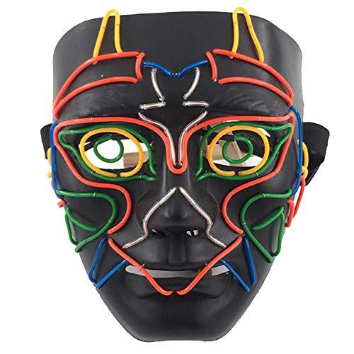 altlicht Leuchtmaske Halloween Horror Maskerade Performance Prop Cosplay Led Kostüm Maske Eule Stil Leuchtende Maske ()