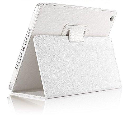 inShang iPad mini 4 Custodia per Apple IPAD mini4 (Sep 2015 release), inShang Cover case in pelle PU -Prenota Folio Style, supporto per tenere L'iPad sollevato, magnetico per sleep e standby + inShang white