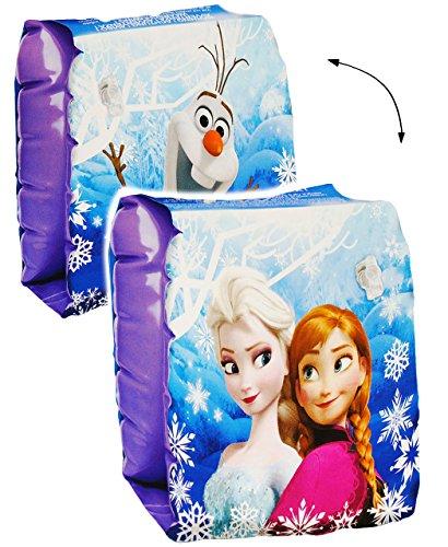 alles-meine.de GmbH 2 TLG. Set _ Schwimmflügel - aufblasbar -  Disney die Eiskönigin - Frozen  - passend für 2 bis 6 Jahre - jeweils 2 Luftkammern ! - Schwimmärmel & Schwimmhil..