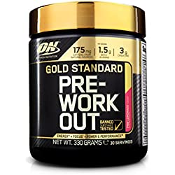 Optimum Nutrition Gold Standard Pre-Workout, Limonada Rosa - 330 g