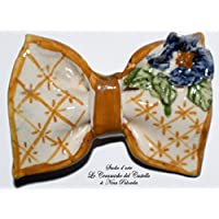 Papillon in Ceramica Linea Fiore a rilievo Pezzo Unico Handmade