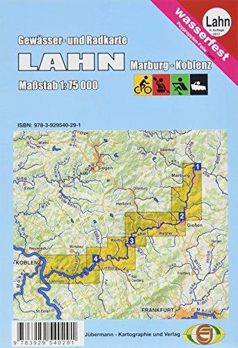 Gewässerkarte Lahn 1:75 000