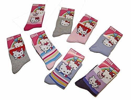 Hello Kitty Set von 3 Paare Socken Kinder Mädchen Lizenz sanrio - Abgestimmt, (Hello Kitty Socken)