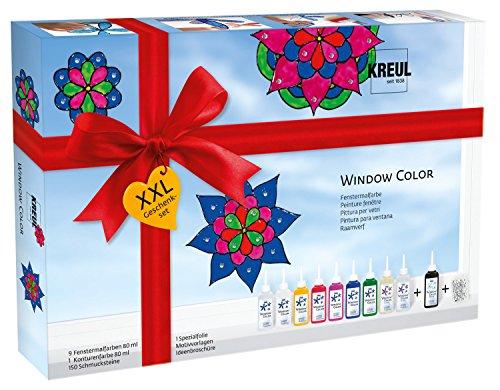 fenstermalfarben Kreul Hobby Line 42849 - Window Color Glas Design Set, XXL