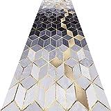 KKCF Läufer Teppiche Flur 3D Geometrie Kann Geschnitten Werden Anti-Warping Weich Teppich Anpassbar,Mehrere Größen (Farbe : A, größe : 0.6x2m)