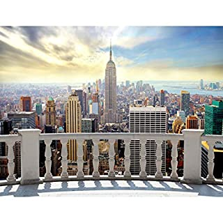 Fototapete New York 396 x 280 cm Vlies Wand Tapete Wohnzimmer Schlafzimmer Büro Flur Dekoration Wandbilder XXL Moderne Wanddeko 100% MADE IN GERMANY -Stadt City NY Runa Tapeten 9027012a