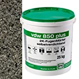 VDW 850 plus 2K Fugenmörtel 25kg/Eimer (steingrau)