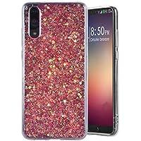 Funda Huawei P20, MeganStore Carcasa Suave Gel Silicona Diseño de Glitter Bling Brillante Trasera Acrilico TPU Funda para 5.8 pulgada Huawei P20