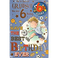 Grandson 6th Birthday Card -