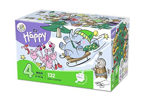 bella baby Happy Windeln für Babys Gr. 4, 8-18 kg, im Monatspack mit perfekter Passform und maximalem Schutz - 132 Stück
