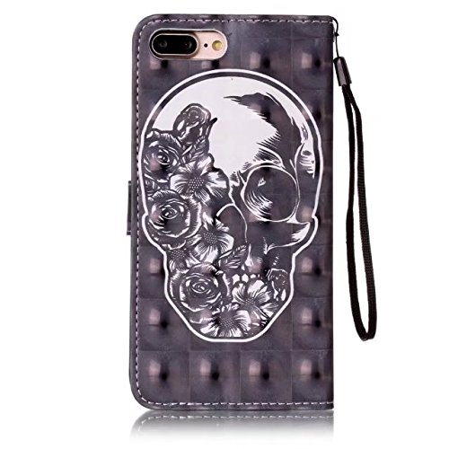 Cover iPhone 7 Plus,iPhone 8 Plus Coque,Valenth [Pu Leather] Portefeuille multi-parche 3D Coque Etui [Stand Feature] Flip Coque avec embouts pour iPhone 8 Plus / iPhone 7 Plus 7#