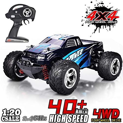 MaxTronic RC Cars, RC Auto Rock Offroad Racing Fahrzeug Crawler Truck 2,4 Ghz 4WD High Speed 1:20 Radio Fernbedienung Buggy Elektro Fast Race Hobby- Blau (Blau)