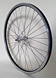 26 Zoll Fahrrad Laufrad Hinterrad REFLEX Hohlkammerfelge schwarz mit Schraubkranz-Vollachsnabe für V-Brakes / Felgenbremse