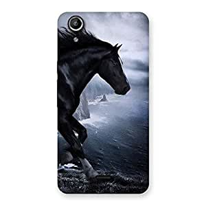 Premier Black Horse Back Case Cover for Micromax Canvas Selfie Lens Q345