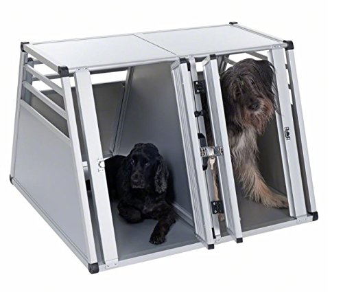 Aluline Robust and Lightweight Double Dog Crate - Safe and Comfortable Way to Transport Larger Dogs when Travelling by… 1