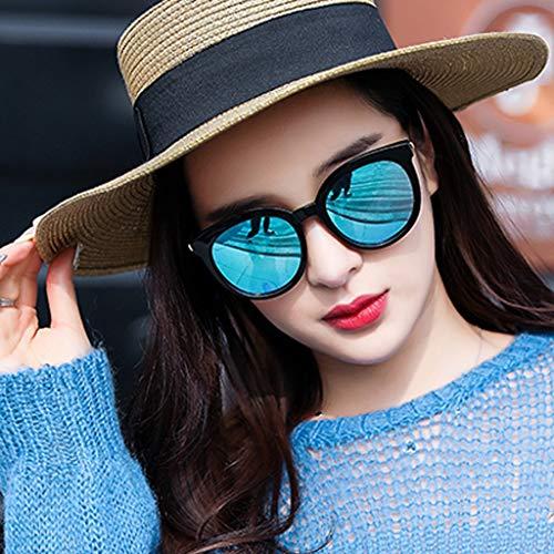 MJY Mode neue polarisierte Sonnenbrille Sonnenbrille Flut Brille rundes Gesicht koreanischen Stil Persönlichkeit,Blau,